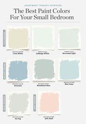 8 Farben, die immer für ein kleines Schlafzimmer funktionieren