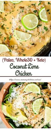 Kokos-Limetten-Huhn (Paleo, Whole30 + Keto) #Lunchrecipe #easycook   – Food – Delicious Recipes