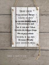 Trau Dich Bunt Patchwork Oder Sandfarben Maxixxl 70x30cm Holzschilder Spruche Zum Schulanfang Und Wandschilder
