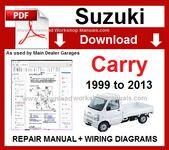 Suzuki Carry 1999 To 2013 Workshop Repair Manual Download Suzuki Carry Repair Manuals Suzuki