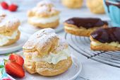 An easy recipe for light and airy pastries filled with whipped cream or pastry c…