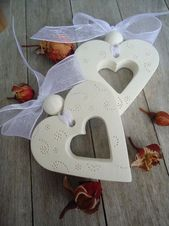 Herz mit Ball Hochzeit – # Ball #Salzteig # Herz # Hochzeit   – basteln