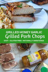 Honey Garlic Pork Chops: Tender pork loin chops are marinated in a simple 4 ingr…