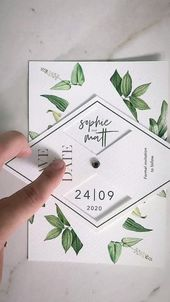 Invitations  New 2020 : Greenery Boho Fun and Interactive Save the Date Wedding Card