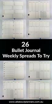 Elegante Ideen zu Gunsten von dasjenige Bullet Journal: wöchentliche Vermehrungsentwürfe zum …