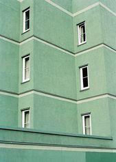 Blasse Minze und doch ein warmes, grünes Gebäude…