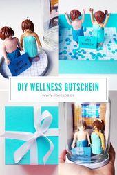 Wellness Gutschein Vorlage für Paare – DIY Wellness Gutschein   – DIY Wellness Geschenk Ideen