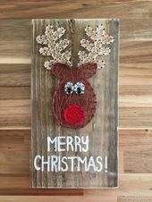 Made to Order Reindeer string art Christmas Decoration home   Etsy