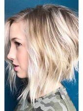 18 frische geschichtete kurze Frisuren für runde Gesichter