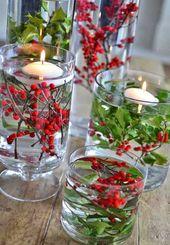 22 Einfache Holly Berry Weihnachts Deko Ideen