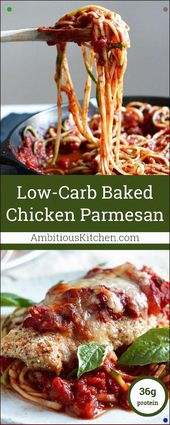 This Healthy Baked Chicken Parmesan Is The Most Amazing Comfort Food Makeover Se…