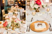 Marine, Pink und Gold Downtown St. Pete Hochzeit  – Tablescapes From Aisle Society