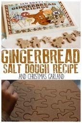 Gingerbread Salt Dough Recipe and Gingerbread Men Garland