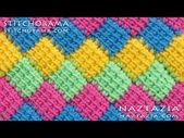 Crochet Scoodie – How to Crochet Entrelac – Tunisian Interlaced Patchwork Diamonds Entrelec by Naztazia