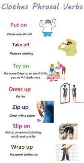 20+ Helpful Phrasal Verbs Regarding Garments