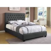 Christen Upholstered Standard Bed (California King), Gray