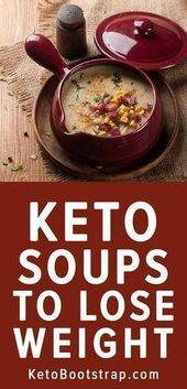 Recettes de soupe Keto à rester en cétose pour le régime cétogène. Recette de soupe a faible teneur en …