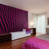 Wallpaper – Zebra pattern (violet) – 3D Wallpaper Murals UK  – background and patterns/leather
