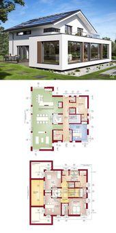 Hauspläne mit 4 Schlafzimmer & Patio Moderne zeitgenössische europäische minimalistische Architektur …   – Anbau