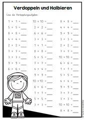 KOMPLETTPAKET: Verdoppeln und Halbieren – Unterrichtsmaterial im Fach Mathemat…
