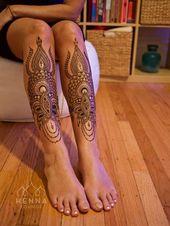 ▷ 1001+ Bein Tattoo Ideen für jeden Geschmack und jedes Alter