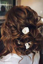 30 Bridesmaid Updos - Elegant And Chic Hairstyles ❤ bridesmaid updos elegant and simple updo with loose curls on brown hair ashandcobridalhair #wedd...