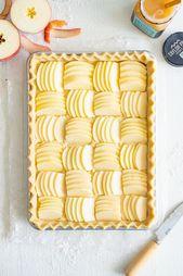 Öffnen Sie Apfelkuchen mit Honig-Vanille-Bohnen-Frangipane