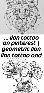 … Löwentattoo auf pinterest | geometrische Löwe Löwe Tattoo und Löwe Tattoo 10