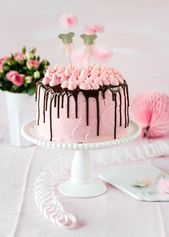 Pink Girl Cake Rezept Geburtstag Backen Tropf Kuchen Ballerina #Tort #Baking …   – Torten