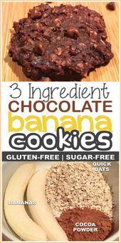 3 Ingredient Healthy Chocolate Cookies –