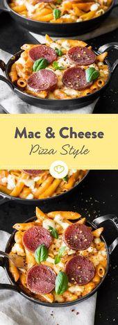 Pizza à la macaroni au fromage   – kochen