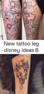 New tattoo leg disney ideas 6
