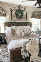 49 Fantastic Ideas For Rustic Bedroom Decor   – Farmhouse bedroom