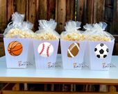 Sports Theme Birthday Baby Shower Favors candy treat jar for | Etsy