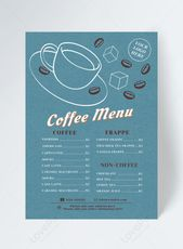 Retro Blue Cafe Menu Design In 2020 Cafe Menu Design Menu Design Web App Design