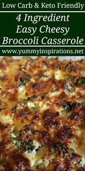 Keto Broccoli Casserole Recipe – Recetas fáciles de hornear brócoli bajas en carbohidratos – rápido …