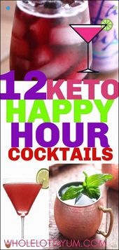 Feiern Sie mit Keto-Cocktails über Neujahr und Happy Hour. Diese kohlenhydratarmen …
