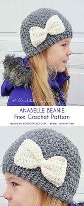 Patrón de ganchillo gratis Anabelle Beanie
