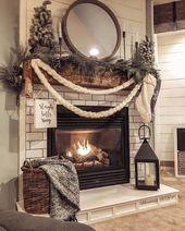 24 décorations de cheminée de Noël, sachez que vous ne devriez pas le faire