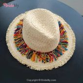 Elegant Raffia Striped Tassel Wide Brim Straw Hats – Fashion Hats At Bridelily