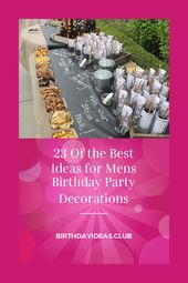 23 Of the Best Ideas for Mens Birthday Party Decorations