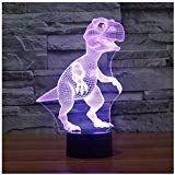 Lunaoo Nachtlicht Kinder Nachttischlampe Led 3d Lampe Dinosaurier Stimmungslicht 7 Farben Andern Schreibtischlampen F In 2020 Night Light Kids Bedside Lamp Night Light
