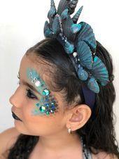 Meerjungfrau Make-up / böse Meerjungfrau / Mädchen Kind Halloween Kostüm / Ma…