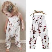 Kleinkind-Baby-Hosen-einteiliger Halter-Spielanzug mit Blumen, #Baby-Bekleidungsgeschäfte #B …   – Babykleidung