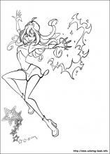 Winx Club Coloring Pages On Book