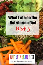 What I ate Week 3 of the 'Eat to Live' Diet