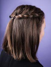 Am Hinterkopf angekommen nehmt ihr nun von der anderen Seite dieselbe Menge Deck… – Hairstyles