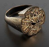 Anillo de calavera, anillos de calavera para hombres, anillos de boda de calavera, anillos de calavera para hombre, anillos personalizados, anillos de motociclista, anillos geniales, anillos de oro, anillo cruzado   – Anillos