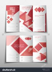 fold set technology annual report brochure flyer design template vector, Leaflet cover presentation abstract geometric backg #Ad , #ad, #flyer#brochur…