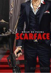 NEW---- UNUSED ---- COCAINE SCARFACE---COLOR -----STICKER